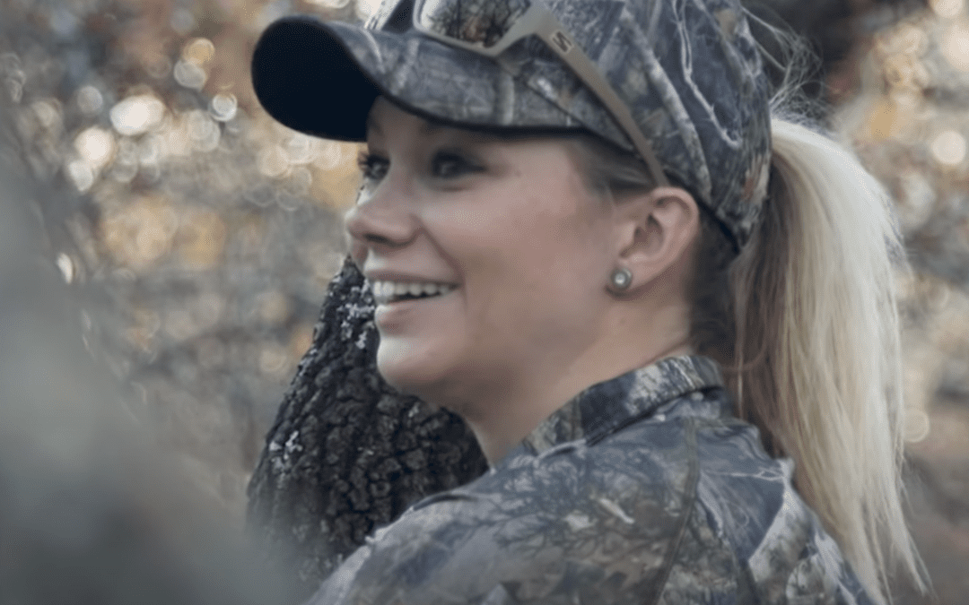 Watch Brittney Glaze hunt deer with a big bore air rifle