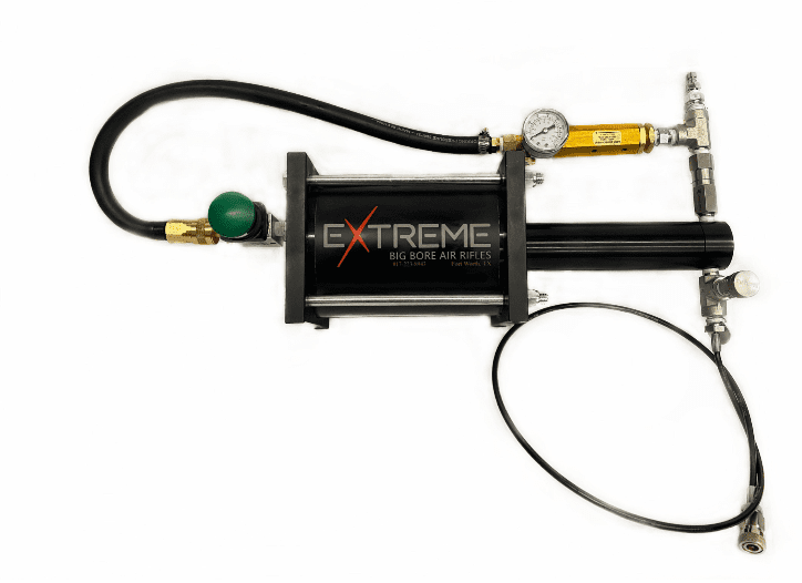 Shoot your big bore airguns all day on the range with the new booster pump from Extreme